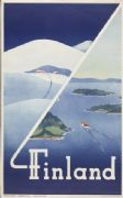 Finland travel poster - 1948